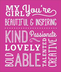what compliments pink my girl compliments typography design poster stock vector