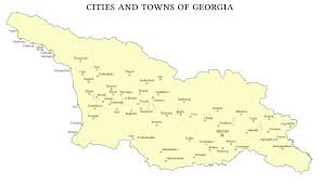 Blank Map Of Georgia by List Of Cities And Towns In Georgia Country Wikipedia