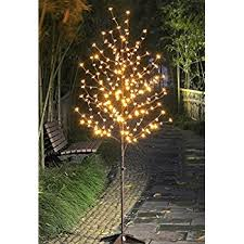 6 foot lighted cherry blossom led tree featuring