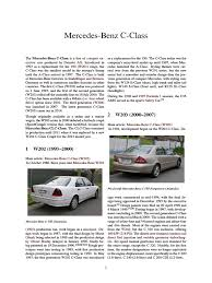 100 2000 mercedes benz c class owners manual mercedes benz