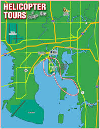 Map Of Tampa Bay Old City Helicopters Tampa Bay U0026 Davis Island Tour