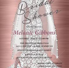 dress invitations rose gold bridal shower invitation bridal shower invitations