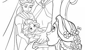 baby rapunzel coloring pagefree coloring pages kids free