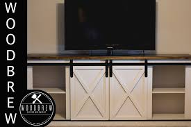How To Build A Buffet Cabinet by Diy Media Center Buffet With Barn Doors Youtube