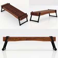 restoration hardware kinetic narrow coffee table 3d model max obj