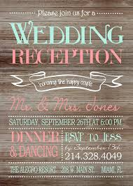 wedding reception only invitations rustic wedding reception only invitation on wooden background