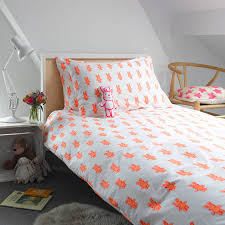 Original Duvet Covers Pink Bunny Single Duvet Cover By Lulu And Nat Notonthehighstreet Com