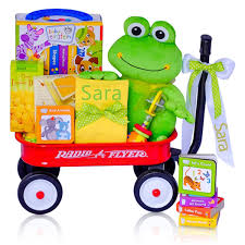 wagon baby personalized baby einstein frog radio flyer wagon gift basket
