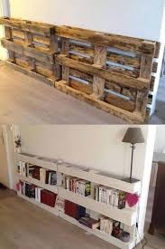 Simple Wood Bookshelf Plans by Best 25 Pallet Bookshelves Ideas On Pinterest Pallets Pallet
