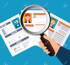 Search Design by Human Resources Recruit Search Design Isolated Vector Illustration