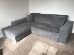 grey fabric corner sofa modern grey fabric corner sofa bed with storage lh very good