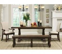 Kitchen Bench And Table Rectangle Dining Table With Bench Foter