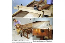 Woodworking Bench Top Surface by How To Flatten An Uneven Workbench Top