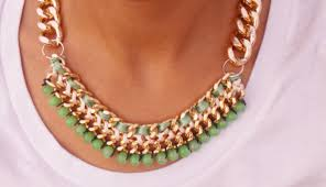 make bead chain necklace images Cool diy jewelry with chains jpg