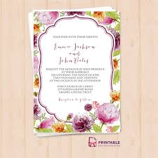 wedding flowers images free free pdf watercolor wedding flowers invitation template