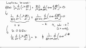 separation of variables spherical coordinates part 1