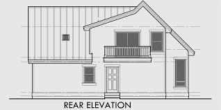 a frame house plans with loft house rear elevation view for 9932 a frame house plan master on