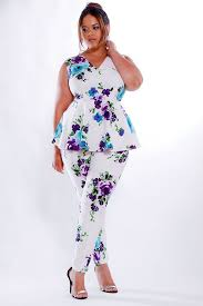 Trendy Plus Size Jumpsuits How To Wear Plus Size Floral Pants And Look Elegant Floral