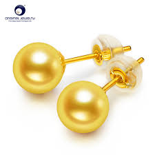 18k gold earrings ys 18k gold earrings and ring japan akoya pearl jewelry 7 7 5mm