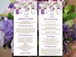 jar wedding programs diy wedding program template jar order of ceremony