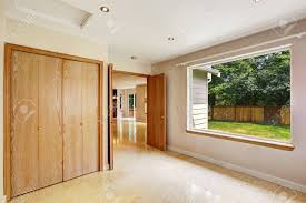 Empty Bedroom Interior With Large Window And Marble Tile Floor Marble Floors In Bedroom
