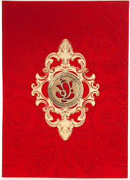 hindu wedding card wedding card design artistic satin golden laser cutout