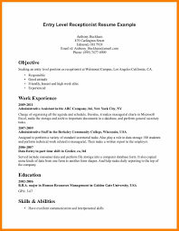 Entry Level Accountant Resume 8 Entry Level Resume Objectives Character Refence
