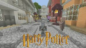 Harry Potter World Map by Minecraft Harry Potter Adventure Map Diagon Alley 1 Youtube