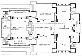 latin cross floor plan a casestudy for unity temple