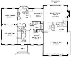 center colonial floor plan bold idea colonial house plans with loft 3 plan 44045td center