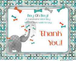 thank you baby shower elephant baby thank you card shower blessing sweet