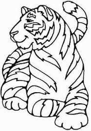 tiger coloring numbers kids girls boys children tiger coloring