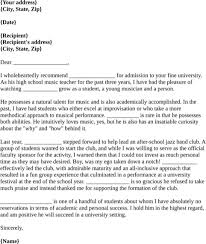 ideas collection letter of recommendation template for student