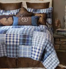 Plaid Bed Set Cowboy Denim Plaid Bed Set