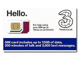 hello prepaid card three uk prepaid europe sim with up to 12gb data for