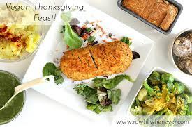a vegan thanksgiving feast till whenever