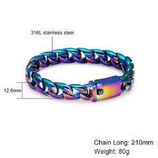 mens charm bracelet images Rainbow men 39 s charm bracelet pride nation jpg
