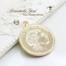Double Plated Gold Name Necklace Accessoryshopbarzaz Rakuten Global Market Person Face Coin