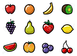 animated halloween clipart a set of cute and colorful cartoon fruit icons royalty free