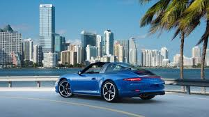 miami blue porsche targa porsche 911 targa 4s blue supercar at city wallpaper cars