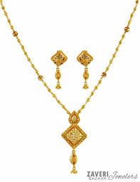 light weight gold necklace designs 22k fancy light weight necklace set ajns59614 22k gold fancy