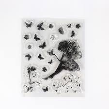 clear st dandelion butterfly design transparent