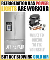 whirlpool ice maker red light flashing refrigerator has power and lights but not blowing cold air