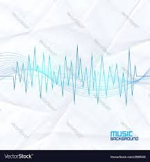 sound wave on paper background abstract equalizer vector image