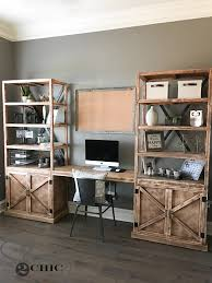 Office Desk Diy Diy Office Desk System Shanty 2 Chic