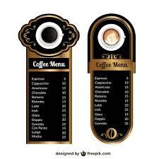 coffee menu templates vector free vector download in ai eps