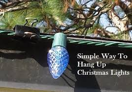 simple way to hang up lights outside holidays