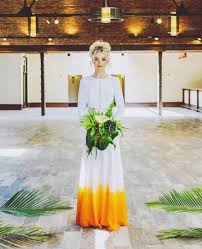 dip dye wedding dress 18 colorful wedding dresses for the non traditional