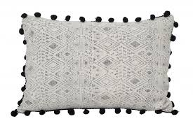 black patterned cushions sofa cushion rectangular patterned fabric graphic zuiver
