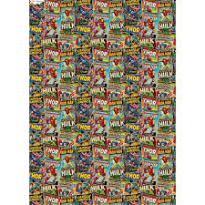 marvel wrapping paper character wrapping paper marvel 3m gift wrap b m